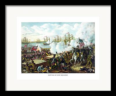 Battle Of New Orleans Framed Prints