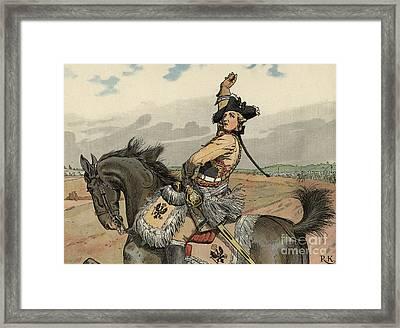 Battle Of Rossbach Framed Print