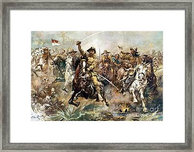 Battle Of San Juan Hill, 1898 Framed Print by Science Source