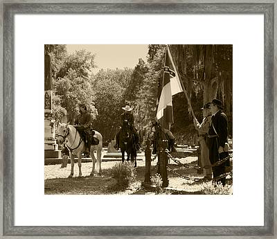 Battle Of Selma - Sepia Framed Print by Fred Baird