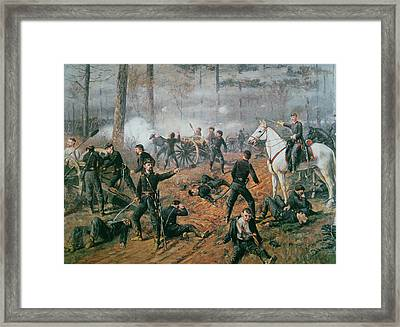 Battle Of Shiloh Framed Print