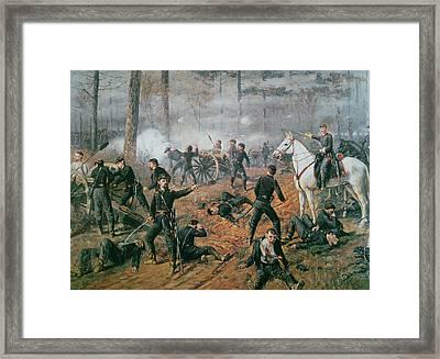 Battle Of Shiloh Framed Print by T C Lindsay