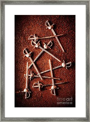 Battle Of Swords Framed Print