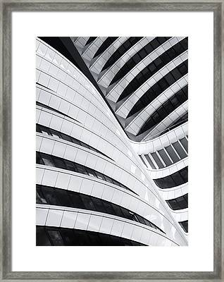 Battle Of The Curves Framed Print