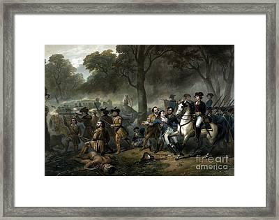 Battle Of The Monongahela, 1755 Framed Print