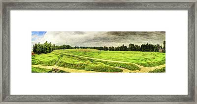 Battle Of The Somme Trench Frontline At Beaumont-hamel - Vintage Version Framed Print by Weston Westmoreland