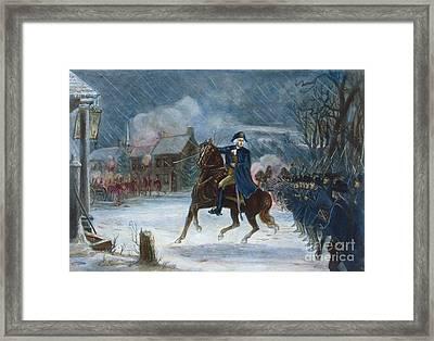 Battle Of Trenton, 1776 Framed Print