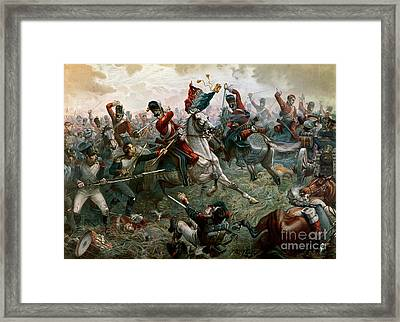Battle Of Waterloo Framed Print by William Holmes Sullivan