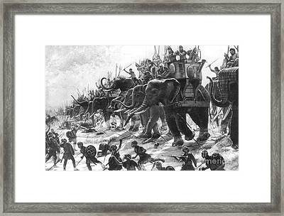 Battle Of Zama, Hannibals Defeat Framed Print by Photo Researchers