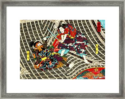 Battle On Horyu Tower 1850 Framed Print by Padre Art