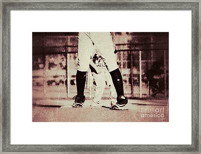 Battle On The Mound Framed Print by Leah McPhail
