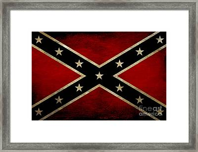 Battle Scarred Confederate Flag Framed Print