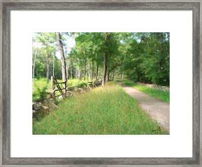 Battle Trail Framed Print by Eddie Durrett