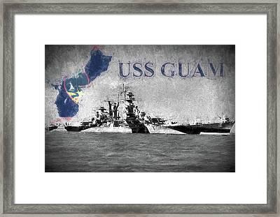 Battlecruiser Uss Guam Framed Print
