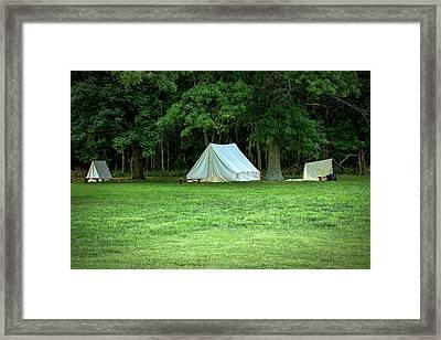 Battlefield Camp Framed Print