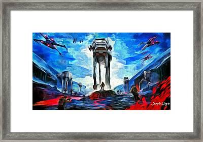 Battlefield - Da Framed Print by Leonardo Digenio