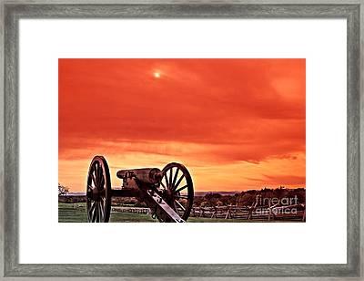Battlefield - Gettysburg Framed Print