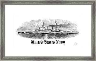 Battleship Framed Print