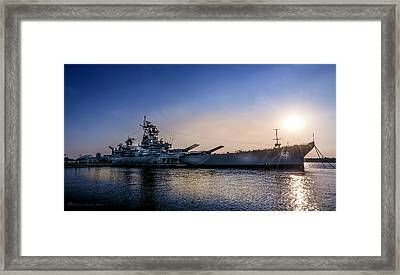 Battleship New Jersey Framed Print