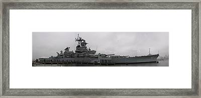 Battleship Nj Panoramic Framed Print
