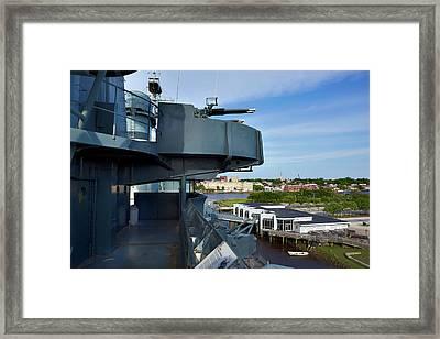 Battleship View Of Wilmington Nc Framed Print