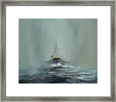 Battleship Yamato, 1945 Framed Print