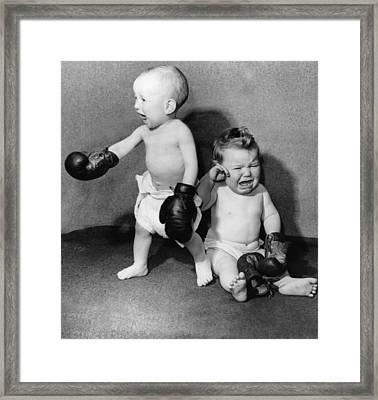 Battling Babies Framed Print by Fox Photos