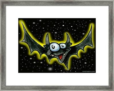 Batty Framed Print