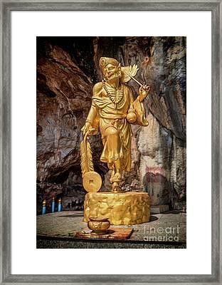 Batu Cave Statue Framed Print by Adrian Evans