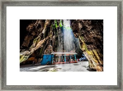 Batu Cave Sunlight Framed Print