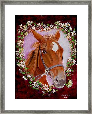Framed Print featuring the painting Batuque by Quwatha Valentine