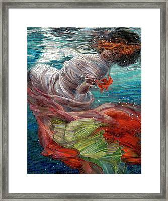 Framed Print featuring the painting Batyam by Mia Tavonatti