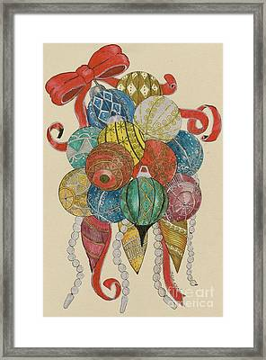 Framed Print featuring the painting Baubles by Eva Ason