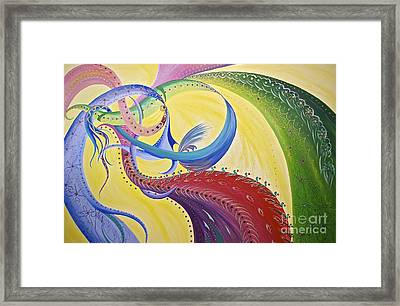 Baubles N Bows Framed Print