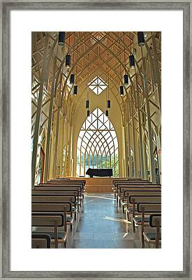 Baughman Meditation Center - Inside Rear Framed Print by Farol Tomson