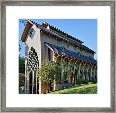 Framed Print featuring the photograph Baughman Meditation Center - Outside by Farol Tomson