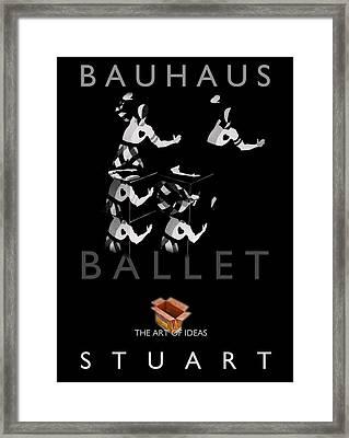 Bauhaus Ballet Black Framed Print by Charles Stuart