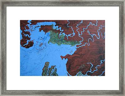 Bauxite And Water Framed Print