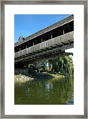 Framed Print featuring the photograph Bavarian Covered Bridge by LeeAnn McLaneGoetz McLaneGoetzStudioLLCcom