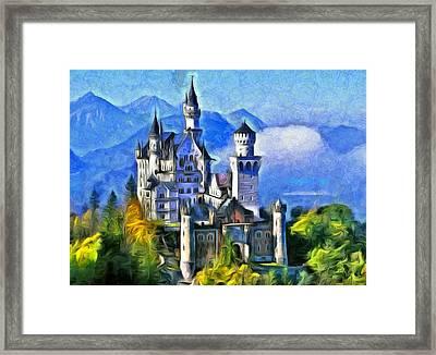 Bavaria's Neuschwanstein Castle Framed Print by Leonardo Digenio