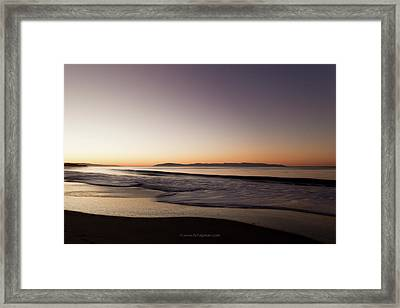 Bay At Sunrise Framed Print by Lora Lee Chapman