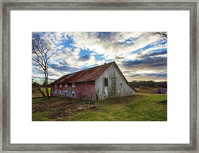 Bay Avenue Barn Framed Print