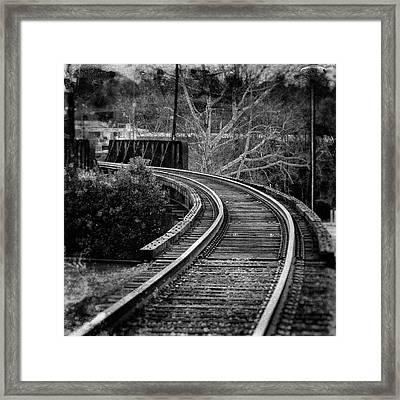 Bay Avenue Railroad Bridge Framed Print