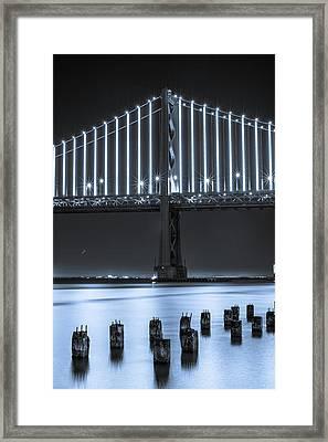 Bay Bridge 2 In Blue Framed Print