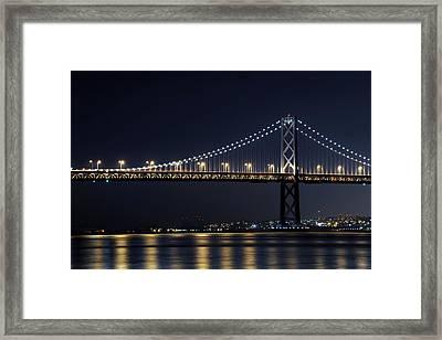 Bay Bridge Framed Print by Catherine Lau