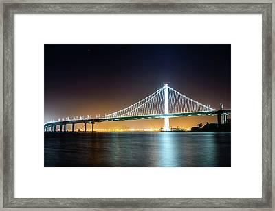 Bay Bridge East By Night 1 Framed Print