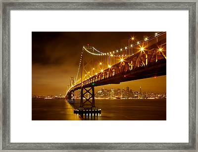 Bay Bridge Framed Print by Evgeny Vasenev