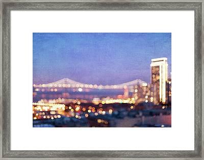 Bay Bridge Glow - San Francisco, California Framed Print