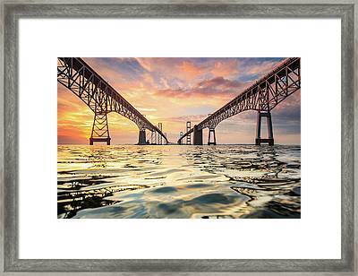 Bay Bridge Impression Framed Print