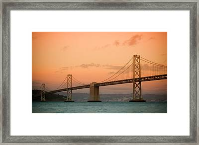 Bay Bridge Framed Print by Mandy Wiltse